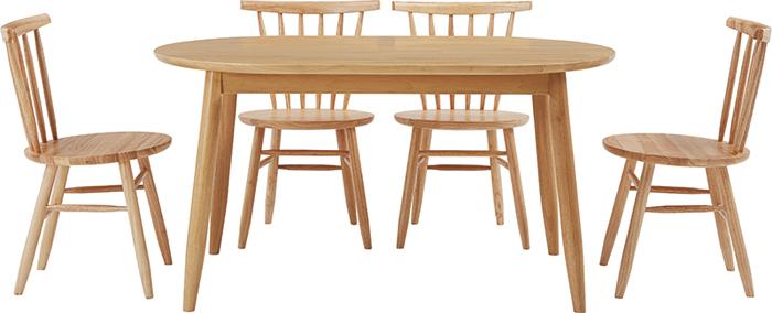 ダイニングテーブル5点セット 幅135cm DT-01-135