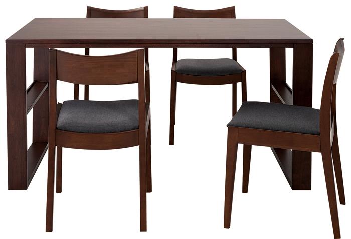 ダイニングテーブル5点セット 幅140cm DT-06-140