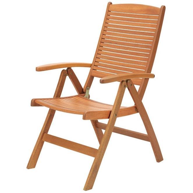 【高品質木材と天然系オイル仕上げ】ガーデンアームチェア ポジション付 C-3