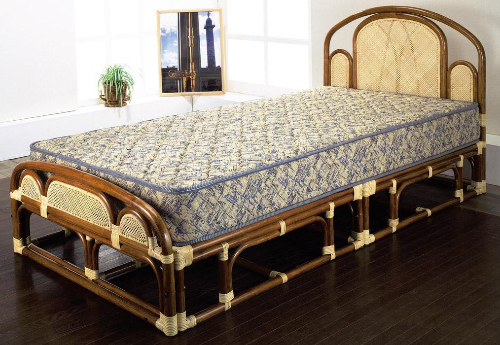 【ワンランク上の籐家具】シングルベッド(フレームのみ) W-001SA