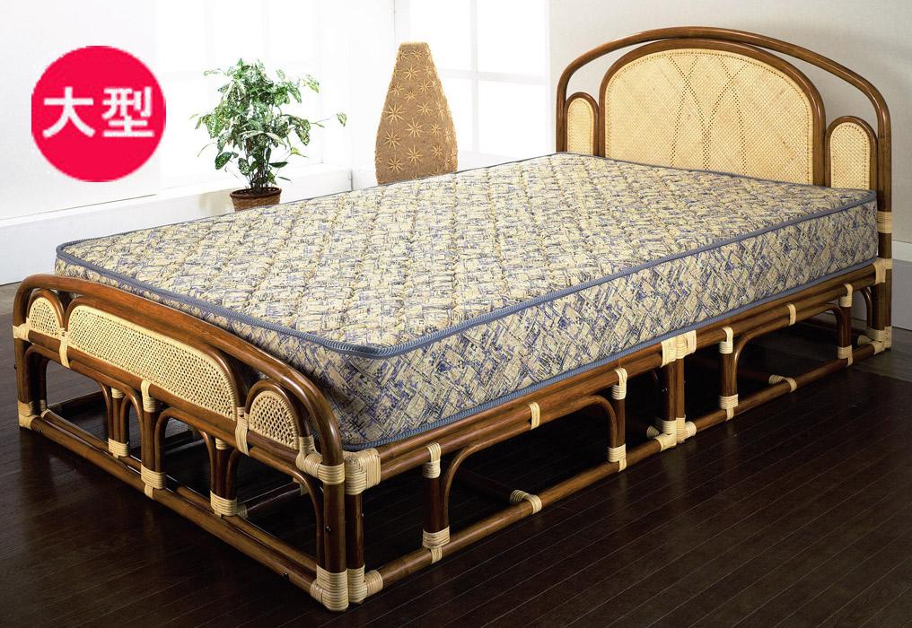 【ワンランク上の籐家具】セミダブルベッド(フレームのみ) W-001SWA