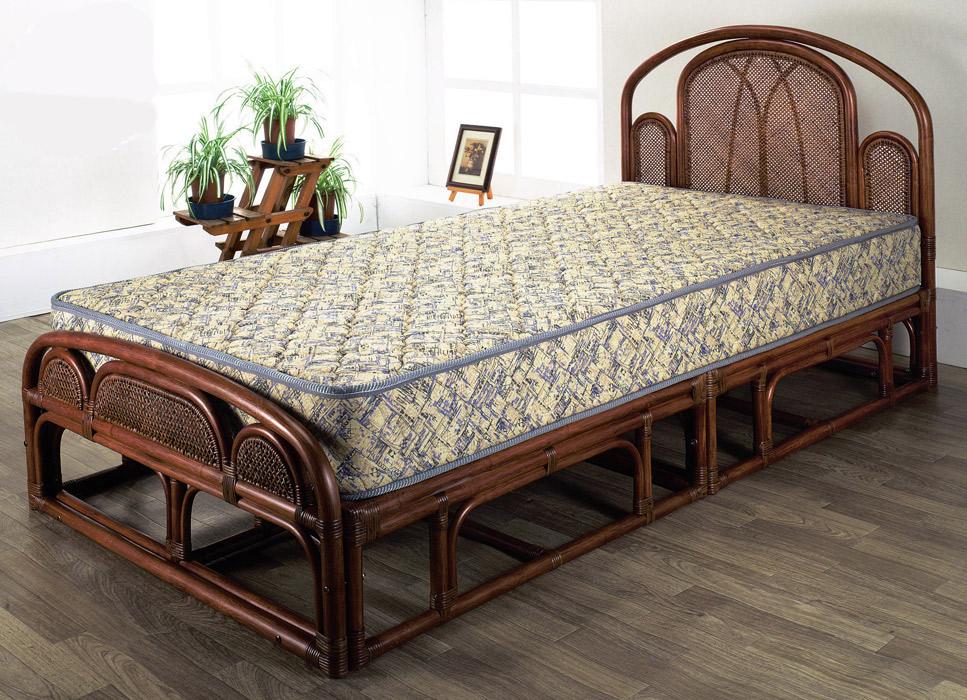 【ワンランク上の籐家具】シングルベッド(フレームのみ) W-003SD