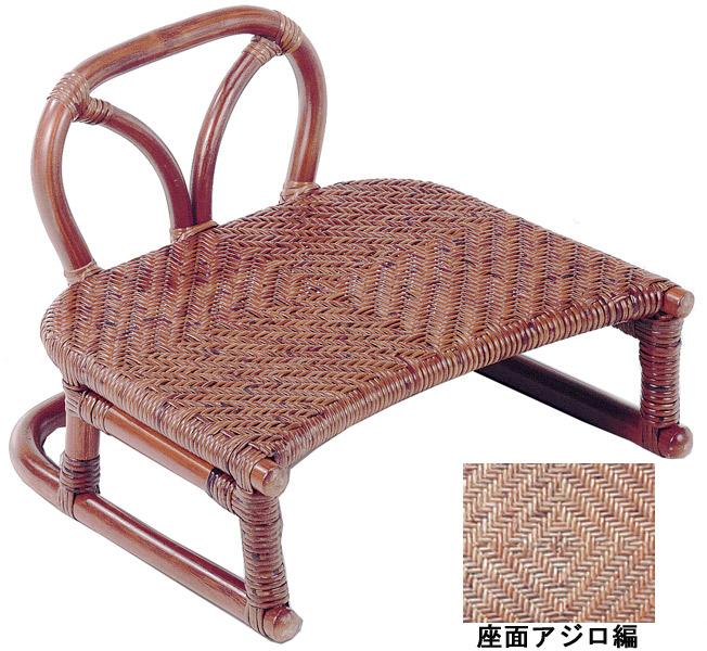【ワンランク上の籐家具】背付正座椅子 SZ-204D