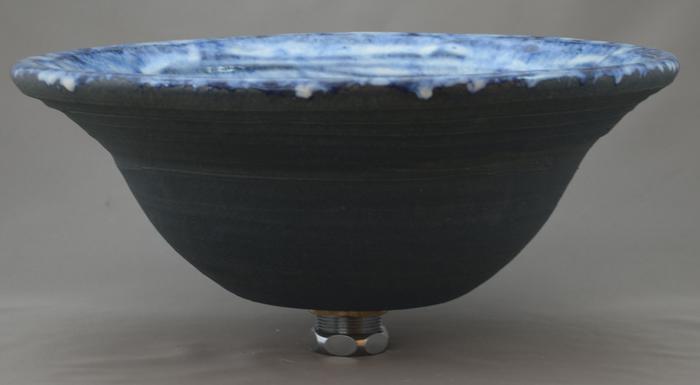 利休信楽手洗い鉢 30~33φタイプ 016-33 海鼠