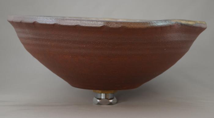 利休信楽手洗い鉢 30~33φタイプ 020-31 黄金焼締め