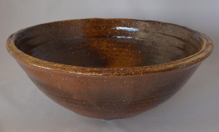 利休信楽手洗い鉢 40φタイプ 石ハゼ