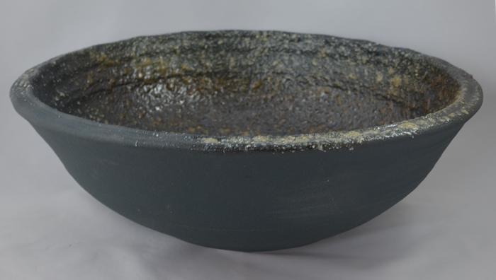 利休信楽手洗い鉢 40φエクステリア 藍古信楽