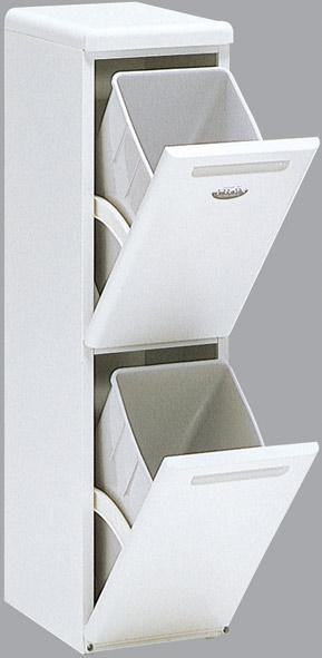 【暮らしにやさしい分別式ダストボックス。 スリムなデザインで置き場所自由。】分別式ダストボックス クリーンペール CLD-21W
