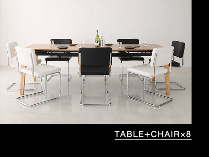 TABLE+CHAIR×8
