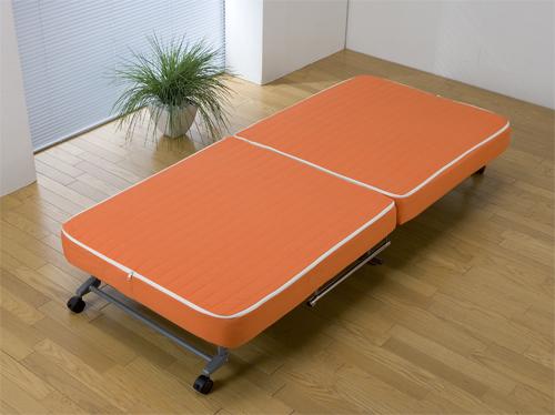 【洗えるカバー付】【5色】替えカバー式折り畳みベッド SPB-55