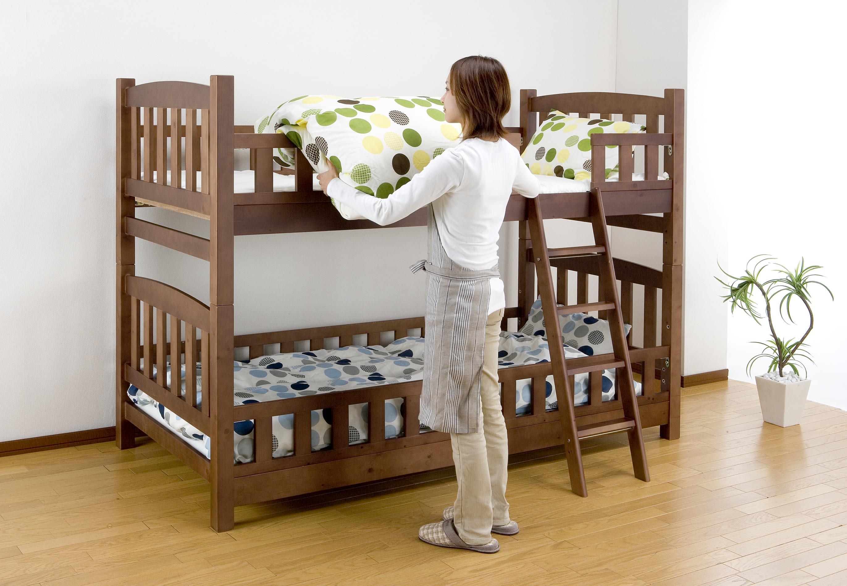 ママにやさしい2段ベッド  ロータイプ2段ベッド TF-6153