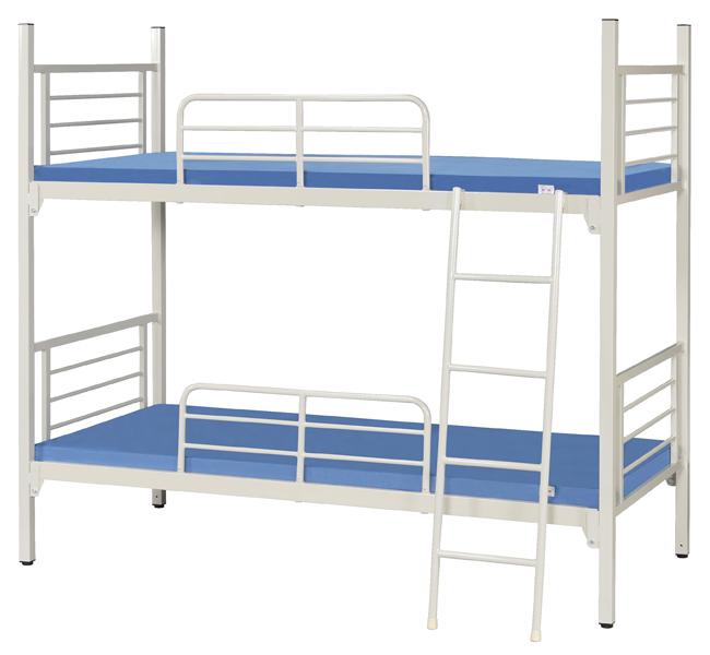 【業務用2段ベッド】【丸パイプタイプ/角パイプタイプ】スチールフレーム2段ベッド KM-200MN