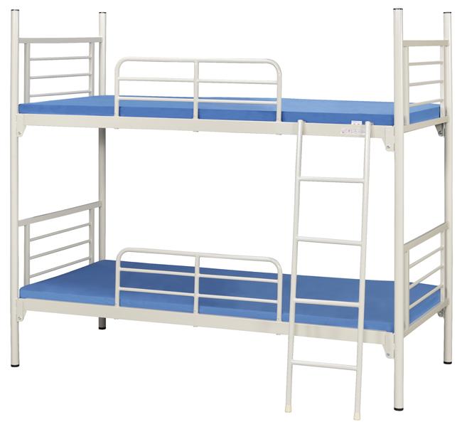 【業務用2段ベッド】スチールフレーム2段ベッド KM-200MN