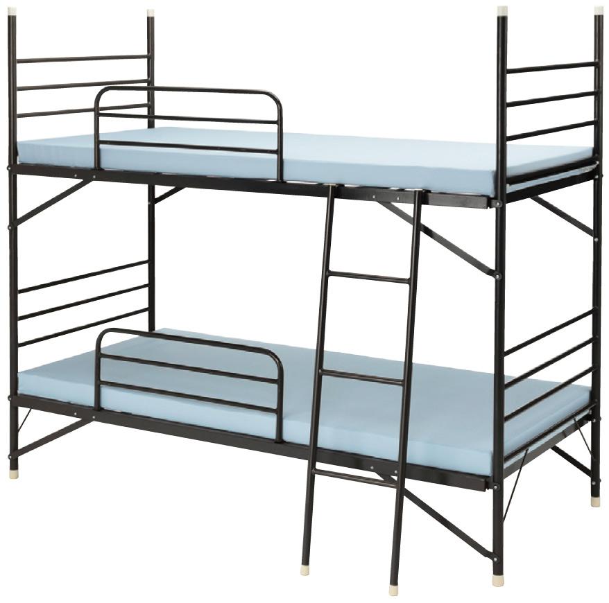 【業務用2段ベッド】スチールフレーム2段ベッド IBS-203【※マット別売】