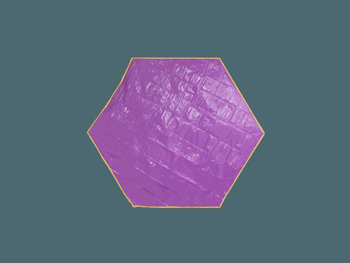 ワンポールテント用グラウンドシート(多角形タイプ)