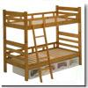 【蜜ろう仕上げ】木製二段ベッド ルナ BR/NA