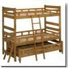 【蜜ろう仕上げ】木製親子二段ベッド マザー OAK