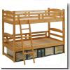 【蜜ろう仕上げ】木製二段ベッド ピュア