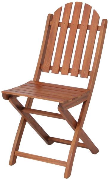 【天然木アカシア材、収納、持ち運びに便利な折り畳み式】バーチカルチェア GC041B(2脚入)