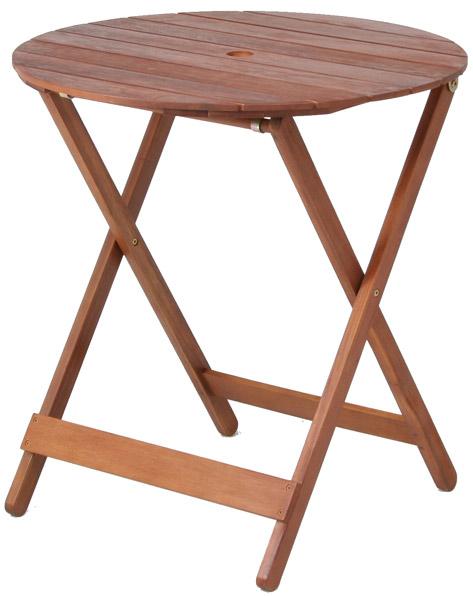 【天然木アカシア材、収納、持ち運びに便利な折り畳み式】ラウンドテーブル GT92JP