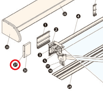 タチカワ オーニング サンシェスタII用オプション ベースカバーキャップ