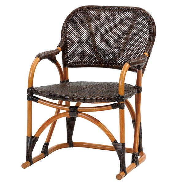【Handmade シリーズ コンパクトで座り心地が良いラタンチェア】ラタン手編み チェア C117CB