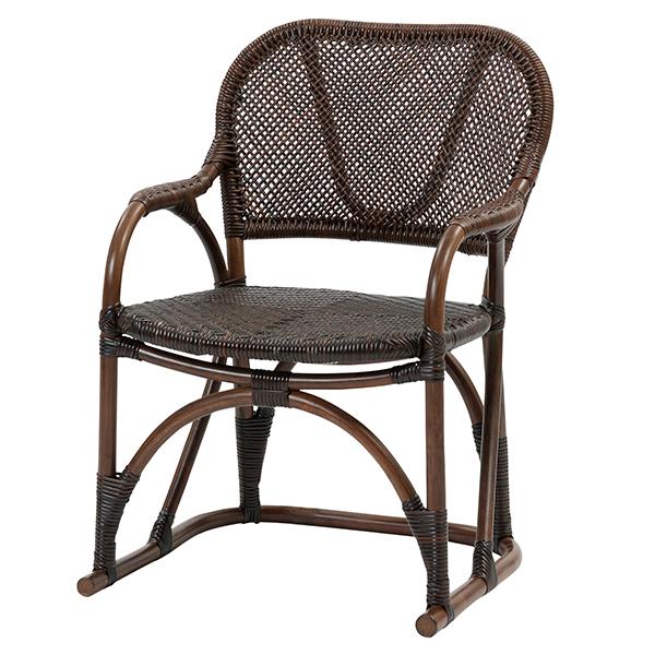 【Handmade シリーズ コンパクトで座り心地が良いラタンチェア】ラタン手編み チェア C117KA