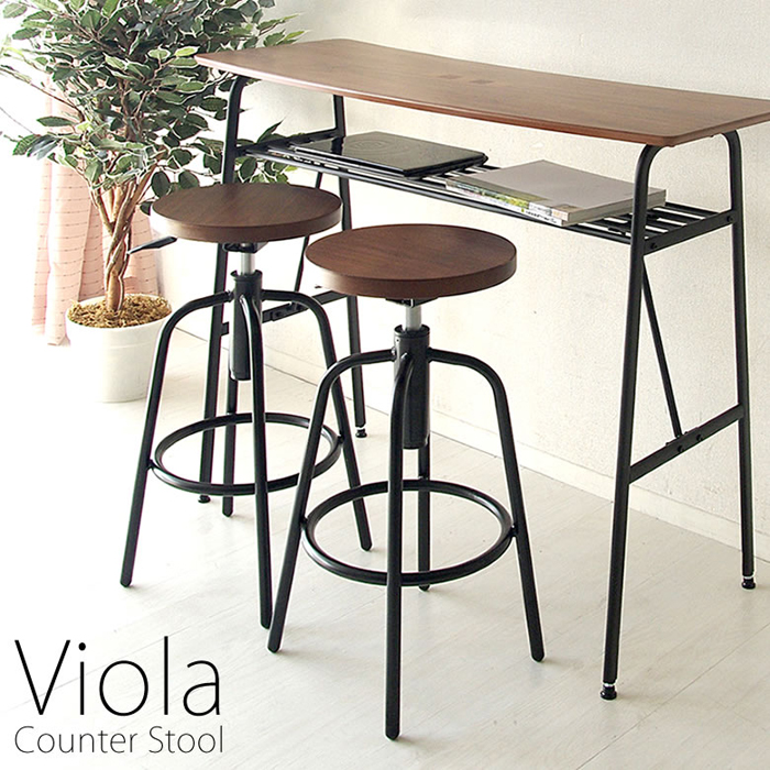 【天然木突板を使用した木目がキレイな座面のカウンタースツール】カウンタースツール Viola(ヴィオラ) KNC-026M