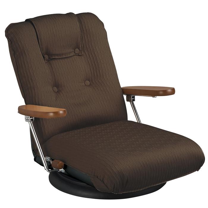 【日本製】ポンプ肘式回転座椅子 YS-P1375