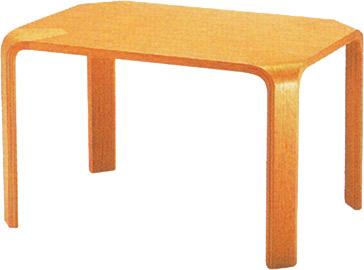 【角に丸みを持たせた甲板と脚のシンプルな形状が特徴】テーブル T-2001NA-ST