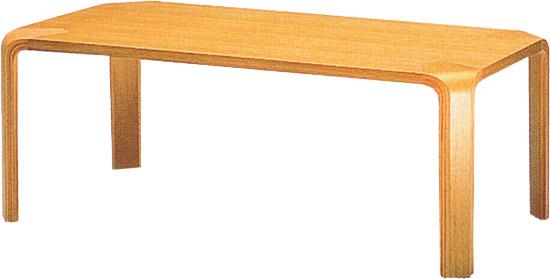 【角に丸みを持たせた甲板と脚のシンプルな形状が特徴】テーブル T-2002NA-ST