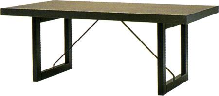 【ダークカラーのシックで落ち着いた印象のダイニング】パドック テーブル T-2397NA-DG