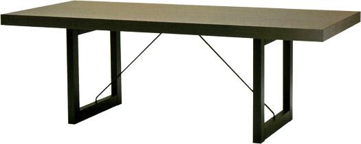 【ダークカラーのシックで落ち着いた印象のダイニング】パドック テーブル T-2398NA-DG