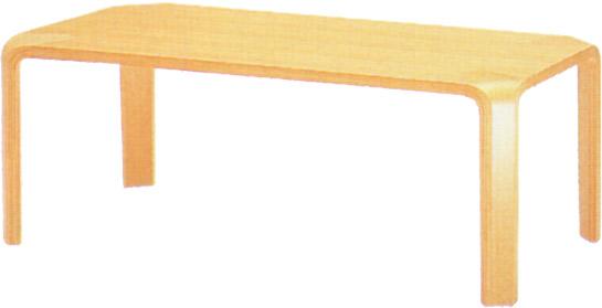 【天童木工の代名詞ともいえる成形合板が特徴】テーブル T-2002WB-NT