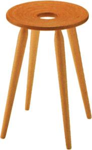 【つま先立つバレリーナのような細くまっすぐな脚】リングスツール T-3195WB-NT