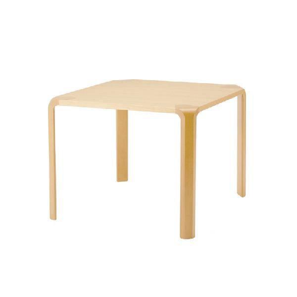 【甲板と木目脚の2トーン、シンプルな形状が特徴】アントラー テーブル T-2068WB-NT