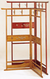 日本製 スカシ入衣桁 幕板2枚(小・L)