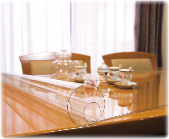 【大切なテーブルを傷・汚れから守る】透明テーブルマット TC1シリーズ