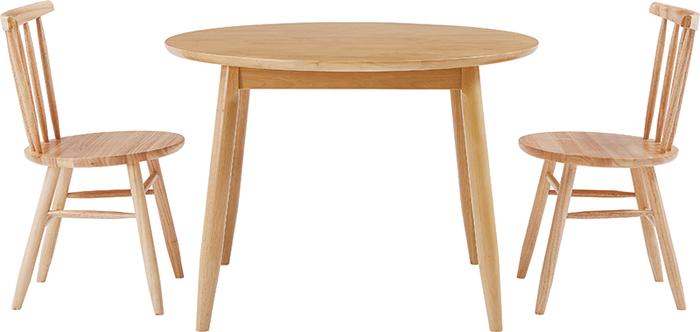ダイニングテーブル3点セット 幅100cm DT-02