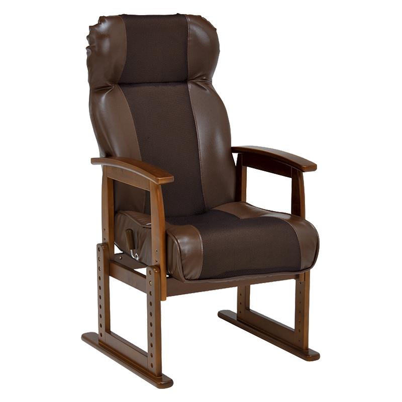 高座椅子 LZ-4728BR ブラウン リクライニング 高さ8段階調節 父の日 母の日 敬老の日