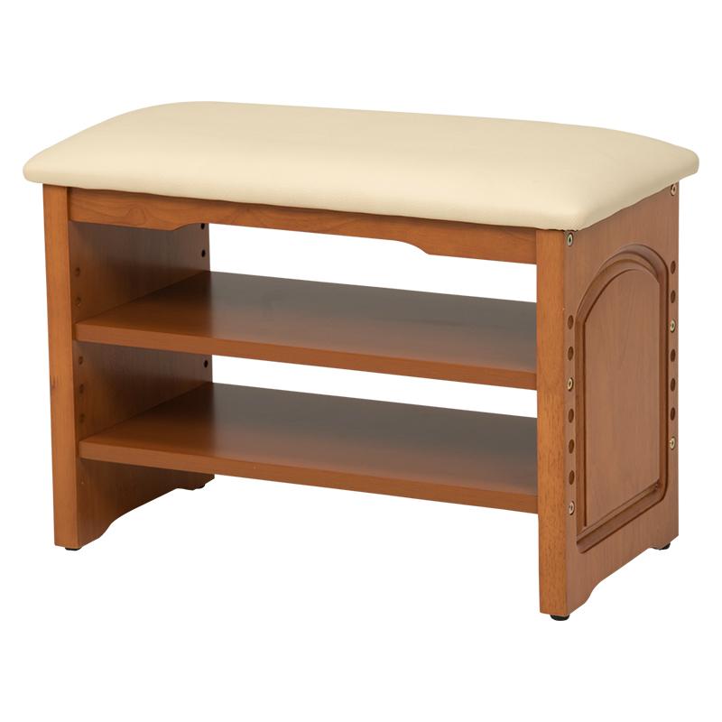 玄関ベンチ 幅60 VH-7101LBR 靴 スリッパ 収納 下駄箱 腰掛 玄関椅子 ベンチ