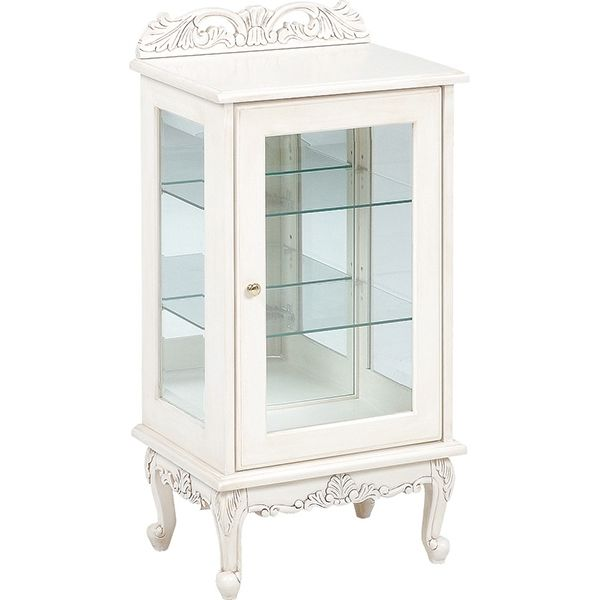 ヴィオレッタシリーズ ガラスキャビネット(アンティークホワイト) RCC-1752AW