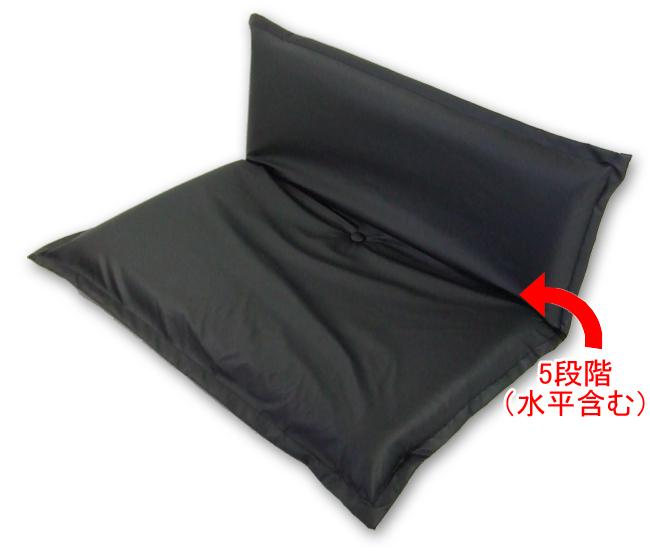 【5段階リクライニング】座布団座椅子 レザー