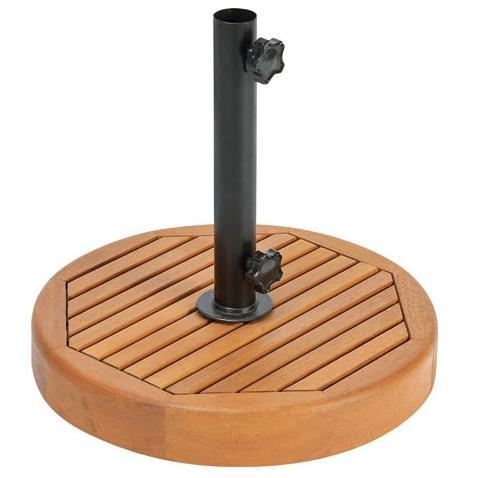 【高品質木材と天然系オイル仕上げ】Orne de siesta(オルネ ド シエスタ) ラウンドパラソルベース P-3