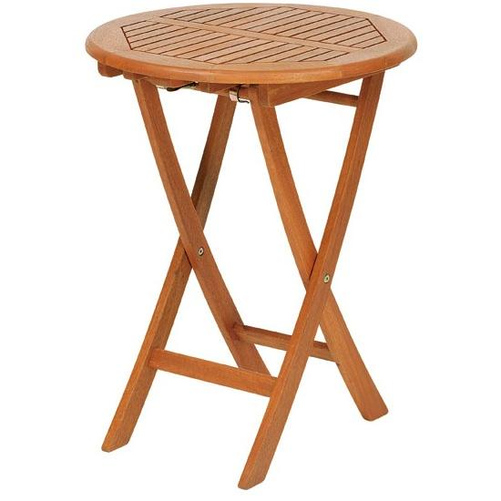 【高品質木材と天然系オイル仕上げ】ラウンドテーブル 55cm T-4