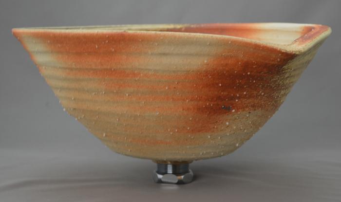 利休信楽手洗い鉢 30~33φタイプ 001-31 炎杉灰