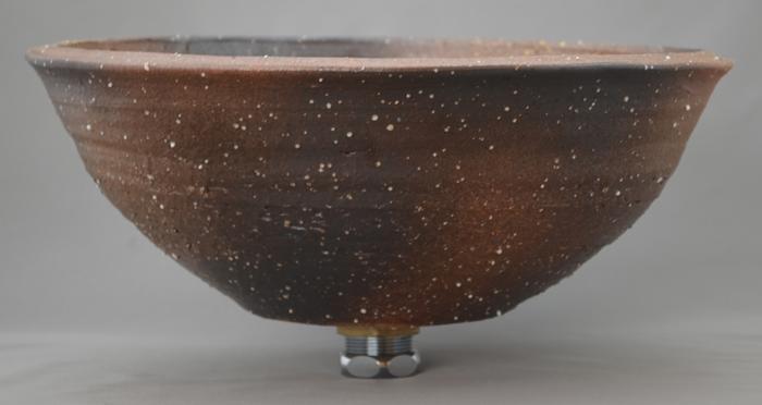 利休信楽手洗い鉢 30~33φタイプ 004-30 平津長石藁灰