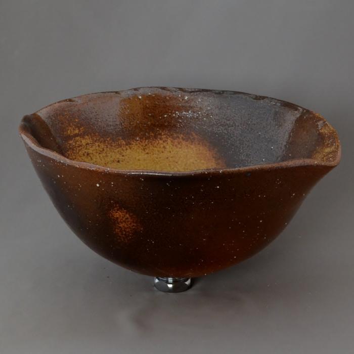 利休信楽手洗い鉢 30~33φタイプ E05-35 石ハゼ