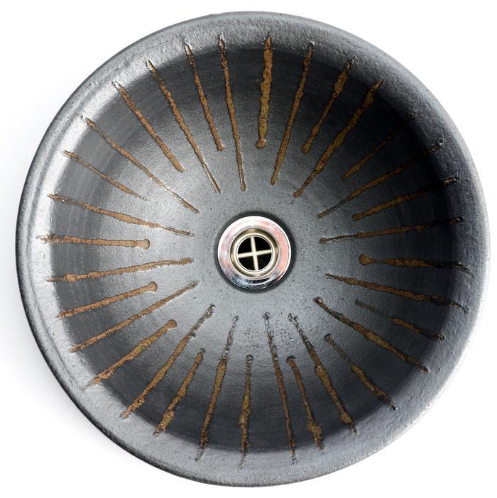 利休信楽 300φ(埋込型)MA14-30 黒立紋様