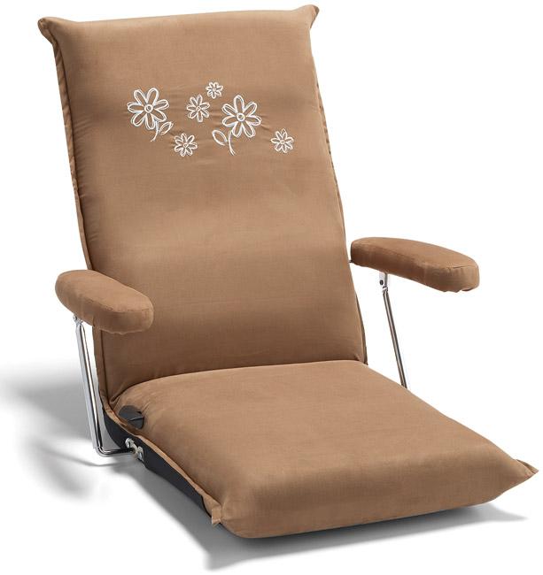 【14段階リクライニング】【肘可動】【3色】1576 座椅子